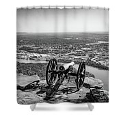 On Guard At Point Park Lookout Mountain In Tennessee Shower Curtain