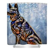 On Guard Shower Curtain