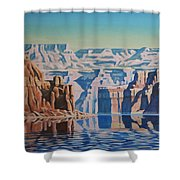 On Lake Powell Shower Curtain