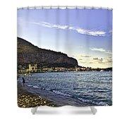 On Mondello Beach Shower Curtain