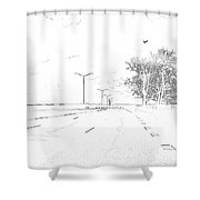 ...on My Way... Shower Curtain