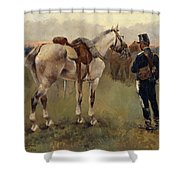 On Patrol In The Country Shower Curtain