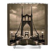 On St Johns Bridge Shower Curtain