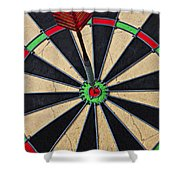 On Target Bullseye Shower Curtain