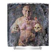 On The Altar Of Skull Carson #3. A Self-portrait, 2016 Shower Curtain