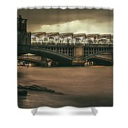 On The Beach? - 2016/l/04 Shower Curtain