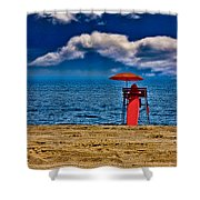 On The Beach At Coney Island Shower Curtain