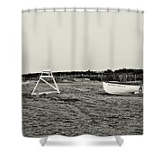 On The Beach - Avalon New Jersey In Sepia Shower Curtain