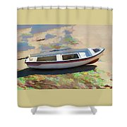 On The Beach Mykonos Greece Shower Curtain