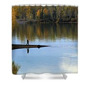 On The Bend Of The River Shower Curtain