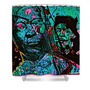 On The Blues Highway With Leadbelly And Muddy Waters Shower Curtain