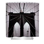On The Bridge Shower Curtain