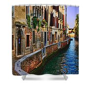 On The Canal-venice Shower Curtain