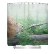 On The Charge Shower Curtain