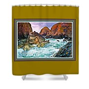 On The Coast Of Cornwall L A With Decorative Ornate Printed Frame. Shower Curtain