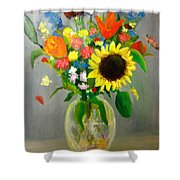 On The Eve Of Autumn Shower Curtain