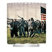 On The Field Of Battle Shower Curtain