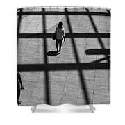 On The Grid Shower Curtain by Eric Lake