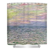 On The High Seas Shower Curtain by Claude Monet