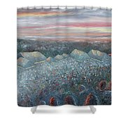 On The Hill At Greyfox Shower Curtain