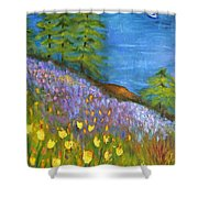 On The Hillside Shower Curtain