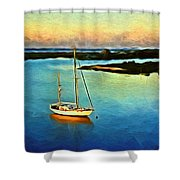 On The Intracoastal Isle Of Palms Sc Shower Curtain
