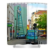 On The Ladder Shower Curtain