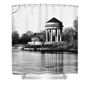 On The Lake At Fdr Park Shower Curtain