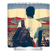 On The Move In The Wilderness Shower Curtain