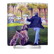On The Move Shower Curtain by Terry  Chacon