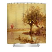 On The Norfolk Broads Shower Curtain