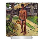 On The Old Beach Road Shower Curtain