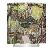 On The Outer - Tree Trunk Extracts - Section Detail II Shower Curtain