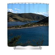 On The Peninsula Shower Curtain