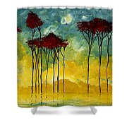 On The Pond By Madart Shower Curtain
