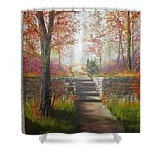 On The Right Path Shower Curtain