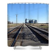 On The Right Tracks Shower Curtain