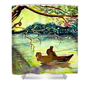 On The River Shower Curtain
