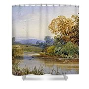 On The River Parret Shower Curtain