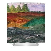 On The River's Edge Shower Curtain