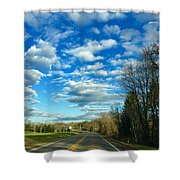 On The Road Shower Curtain