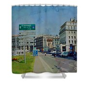 On The Road To Aix Shower Curtain