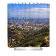 On The Road To Oz La Skyline Runyon Canyon Hiking Trail Shower Curtain