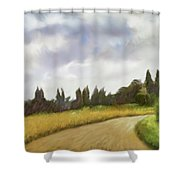 On The Road To Siena Shower Curtain