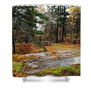 Picnic On The Rocks Shower Curtain