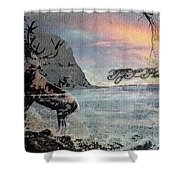 On The Rocks. Shower Curtain