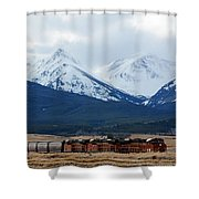 On The Rocky Mountain Front Shower Curtain