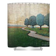 On The Rural Road Shower Curtain