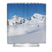 On The Ruth Glacier Shower Curtain