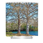 On The San Marcos River Texas Shower Curtain